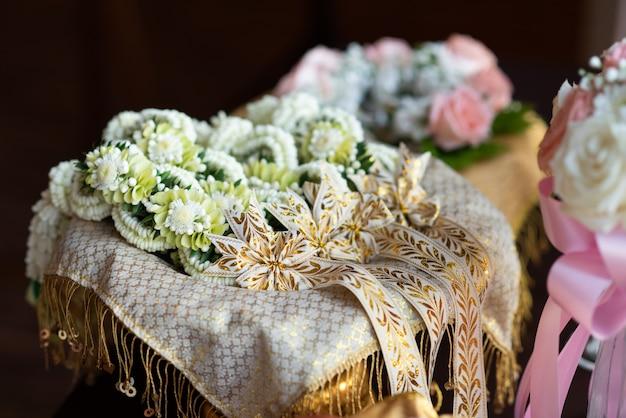 Flor na festa da cerimônia de casamento Foto Premium