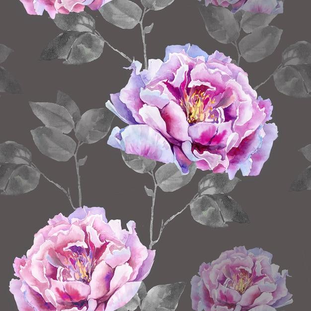 Flores cor de rosa de peônia Foto Premium