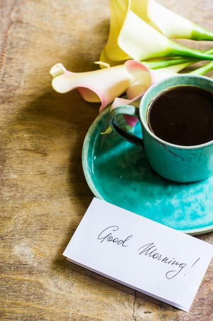 Flores de café e calla Foto Premium