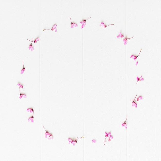 Flores de pétalas decorativas em forma circular Foto gratuita