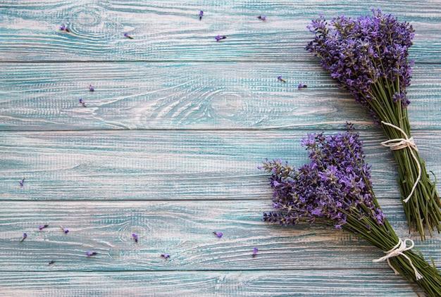Flores frescas de lavanda Foto Premium