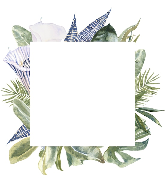 Flores silvestres pele de animal print, folhas tropicais Foto Premium
