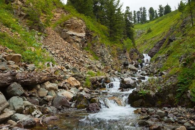 Fluxo de montanhas Foto gratuita