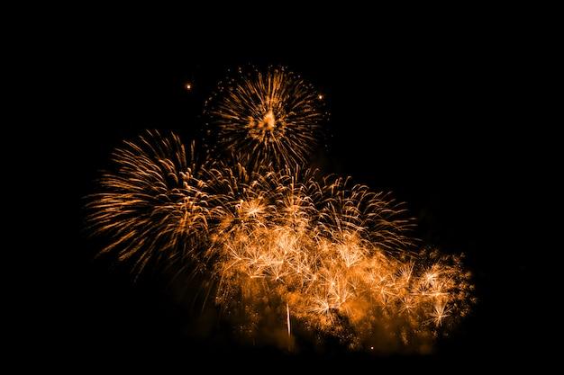 Fogos de artifício coloridos à noite Foto Premium