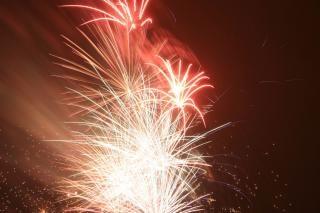 Fogos de artifício de bombas, blowup Foto gratuita