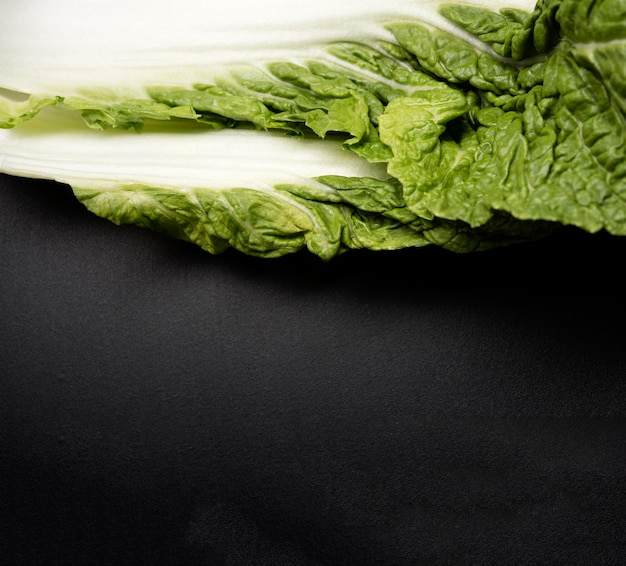 Folha de close-up de espaço de cópia de salada Foto gratuita