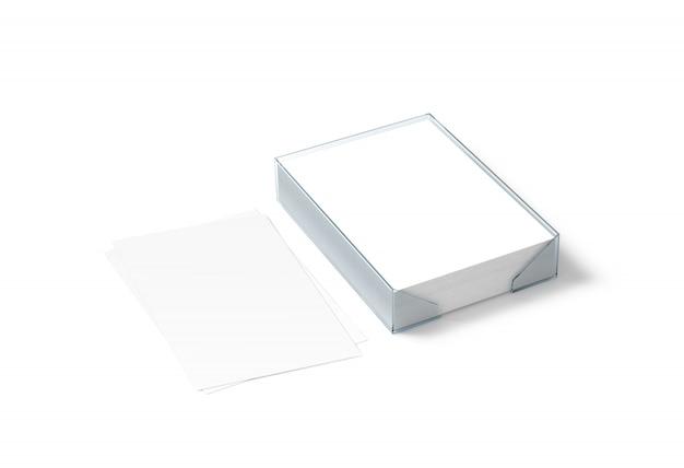 Folha de papel branco em branco e bloco a4 de plástico Foto Premium