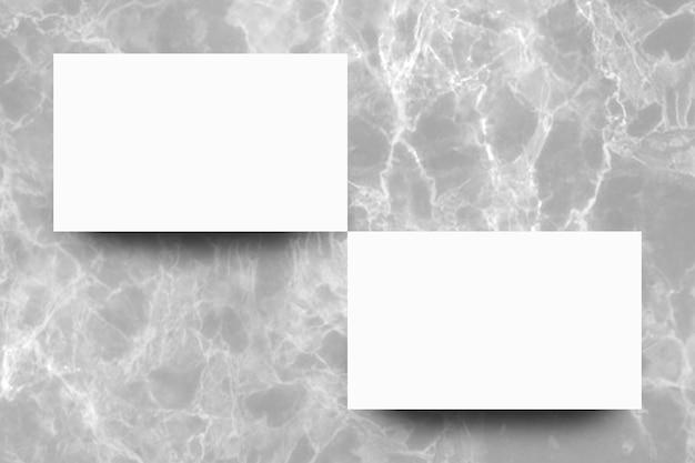 Folha de papel branco vazio no fundo de mármore cinza Foto Premium