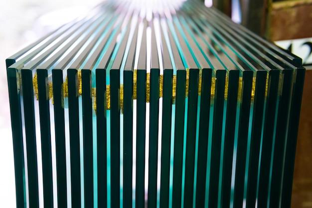 Folhas de fabricação de fábrica painéis de vidro float claro temperado cortado ao tamanho Foto Premium