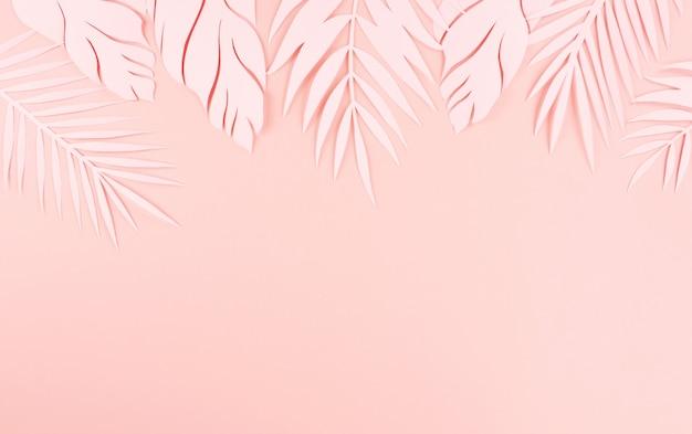 Folhas de palmeira de corte de papel Foto Premium