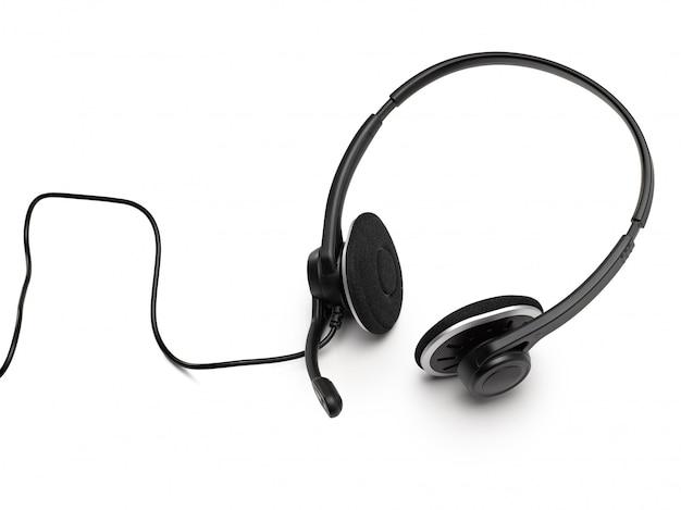 Fone de ouvido em branco Foto Premium
