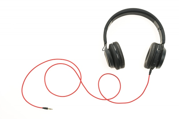 Fones de ouvido de áudio para ouvir Foto gratuita