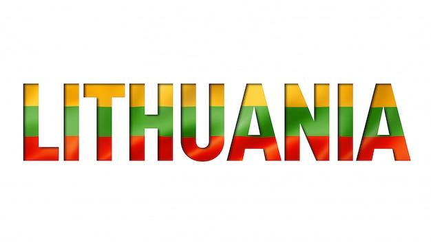 Fonte de texto da bandeira da lituânia Foto Premium