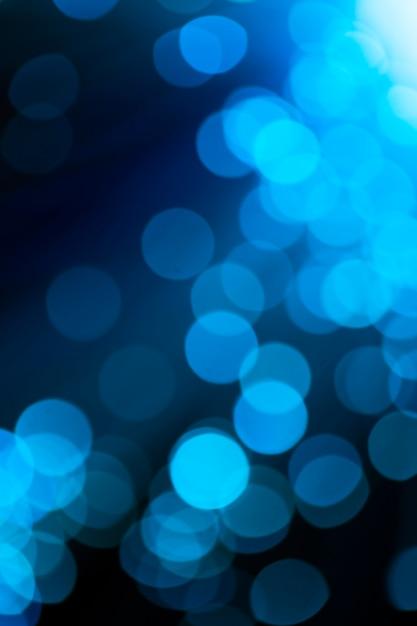 Fora de foco luzes de fibra óptica azul Foto gratuita