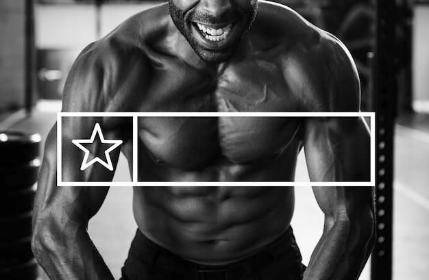 Força fitness exercício obter fit banner copy space Foto gratuita