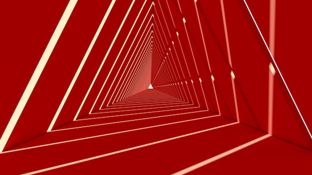 Forma abstrata triângulo em fundo vermelho Foto Premium