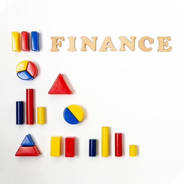 Forma de hierarquia para diagramas financeiros Foto gratuita