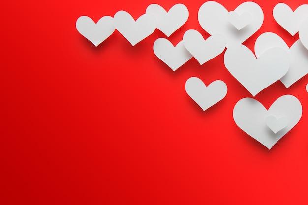 Forma do coração do corte do papel do fundo. Foto Premium