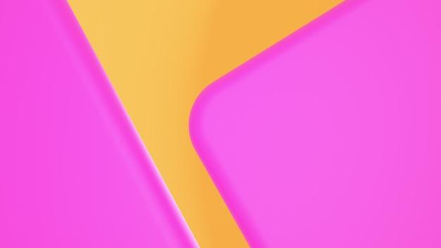 Formas abstratas rosa redonda em amarelo Foto Premium