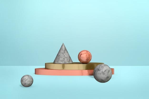 Formas de mármore geométricas Foto Premium