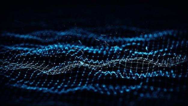 Formas geométricas azuis do plexo abstrato. conexão e conceito da web. Foto Premium