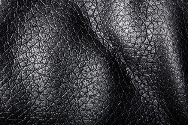 Formas onduladas de textura de tecido preto escuro Foto Premium