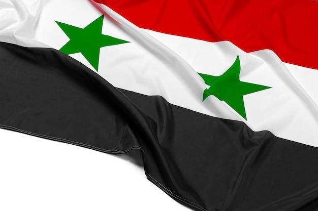 Foto da tela síria bandeira close-up Foto Premium