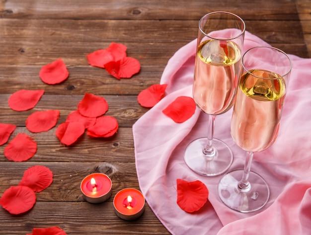 Foto do jantar com velas Foto Premium