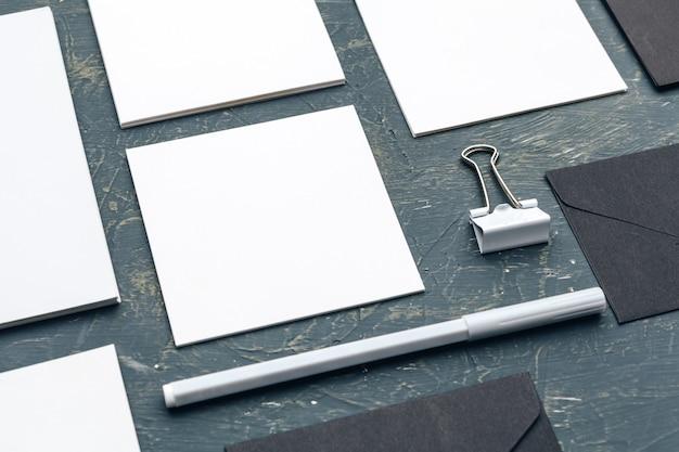 Foto. identidade de marca do modelo. para designers gráficos apresentações e portfólios Foto Premium
