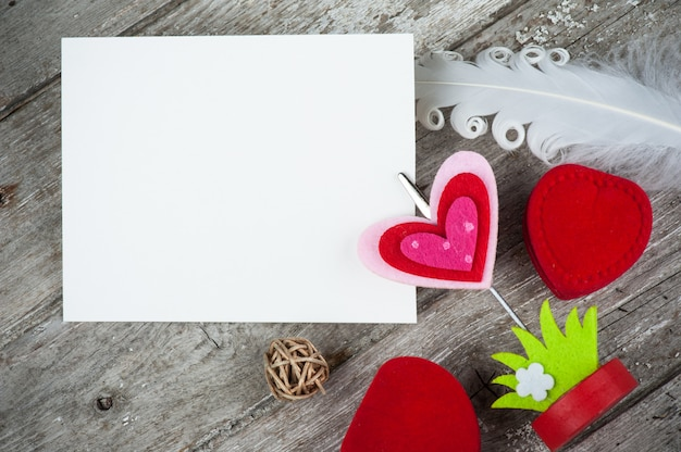 Foto titular com cartão em branco Foto Premium