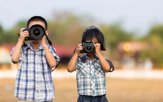 Fotógrafo de crianças Foto Premium