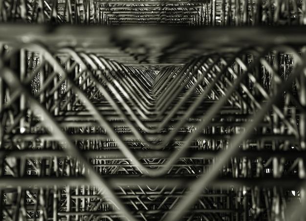 Fragmento moderno abstrato da arquitetura do metal. elementos de design triangular escuro. Foto Premium