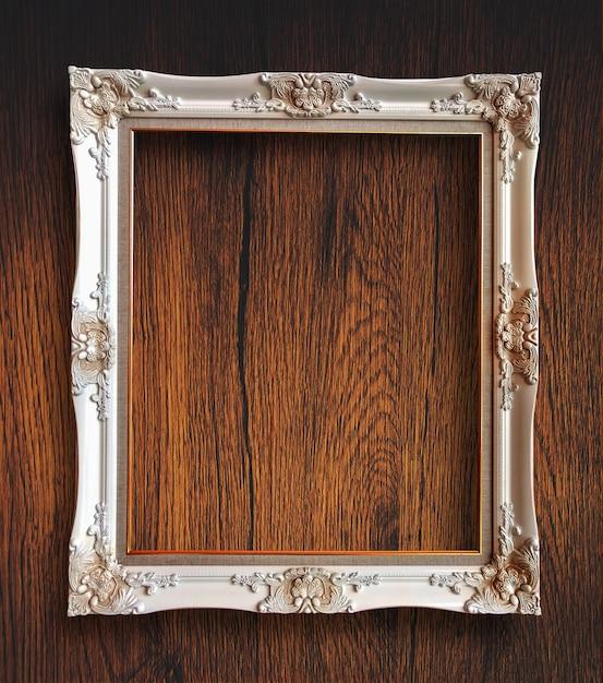 Frame de retrato de madeira rutic vintage velho Foto Premium