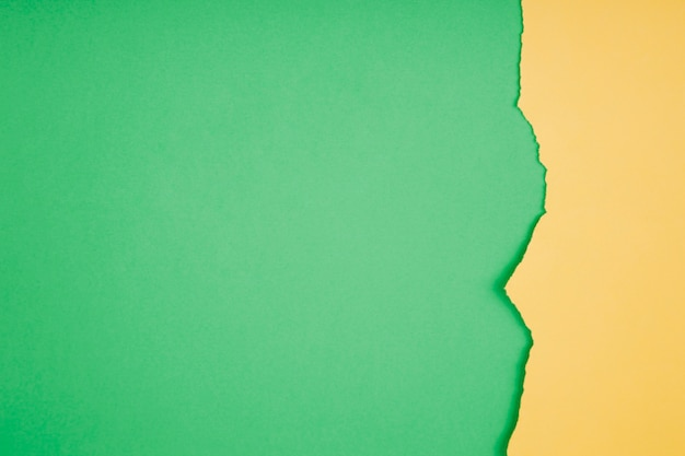 Fronteira de papel rasgado em verde Foto gratuita