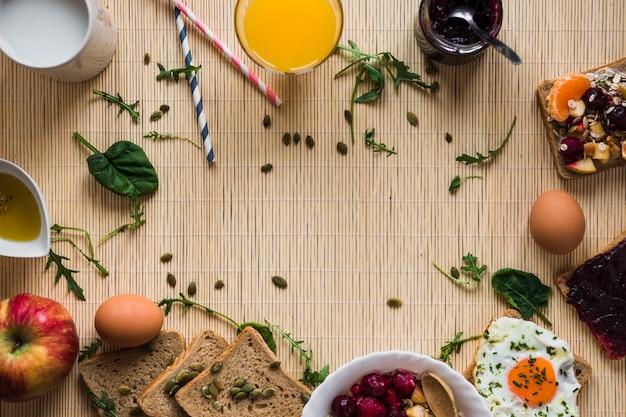 Fronteira do café da manhã e especiarias Foto gratuita