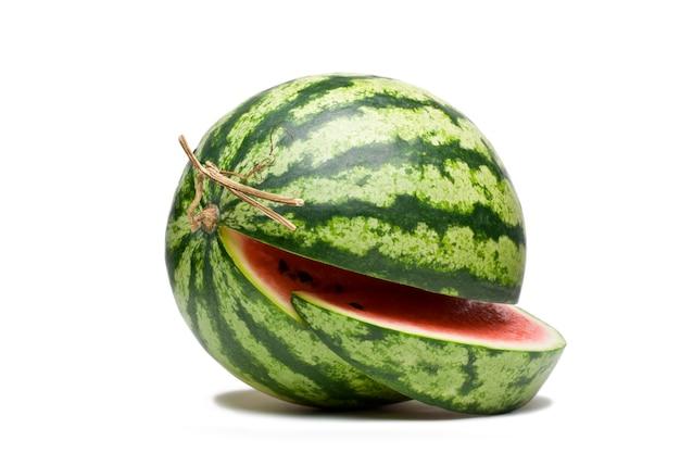 Fruta melancia em branco Foto Premium