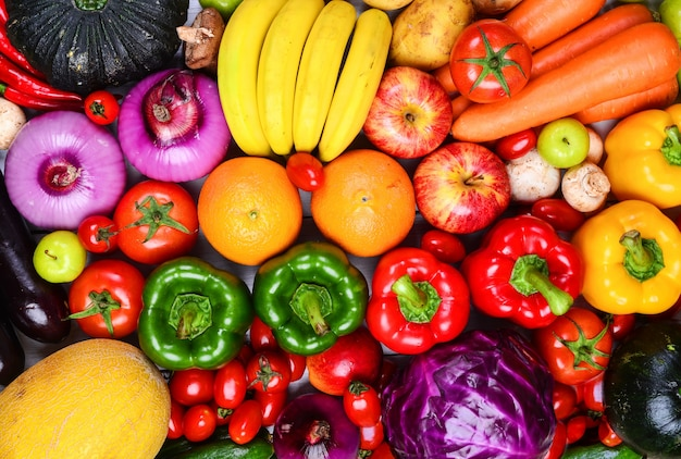 Frutas e vegetais Foto gratuita