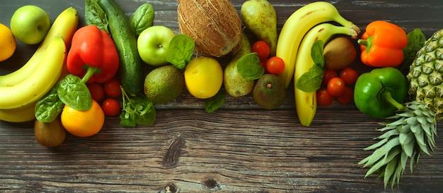 Frutas e vegetais Foto Premium