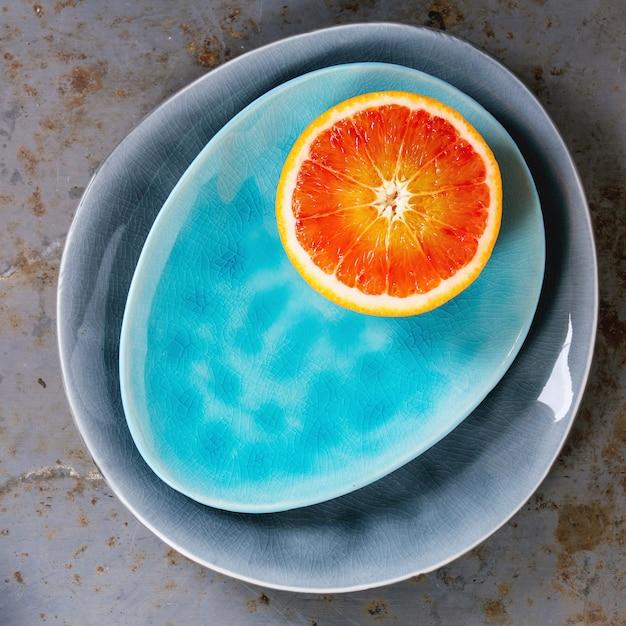 Frutas laranja-sangue Foto Premium