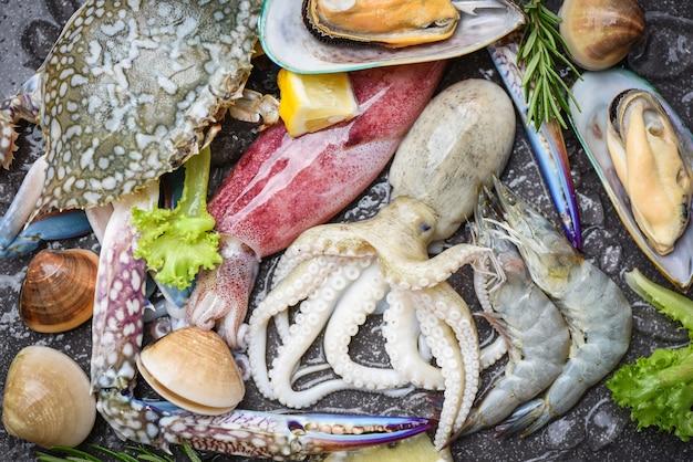 Frutos do mar frescos Foto Premium