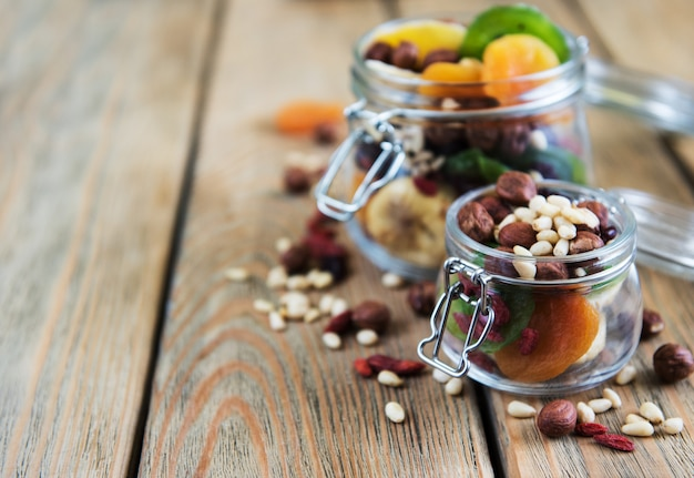 Frutos secos e nozes Foto Premium