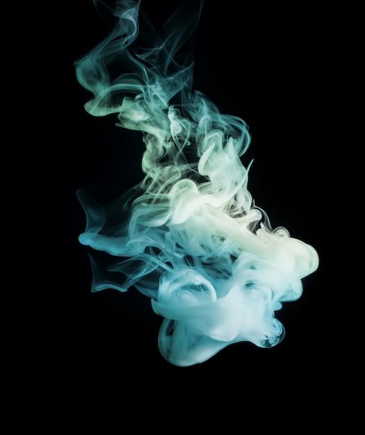 Fumaça de cor brilhante e bonita abstrata Foto Premium