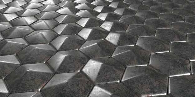 Fundo 3d geométrico abstrato papel de parede hexagonal Foto gratuita