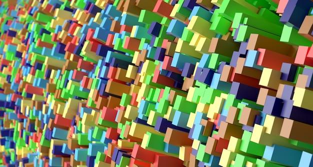 Fundo abstrato brilhante. renderização 3d. Foto Premium