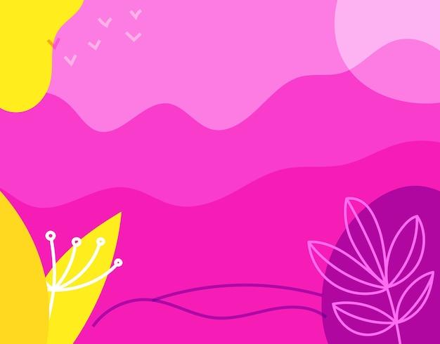 Fundo abstrato com formas geométricas coloridas desenhadas à mão Foto Premium