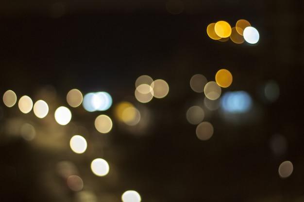 Fundo abstrato com luzes desfocadas bokeh e sombra Foto Premium