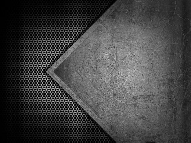 Fundo abstrato com texturas de metal Foto gratuita