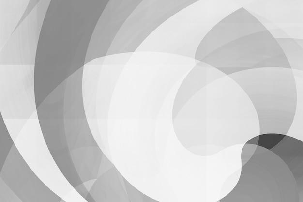 Fundo abstrato da forma misturada da curva no monochrome. Foto Premium