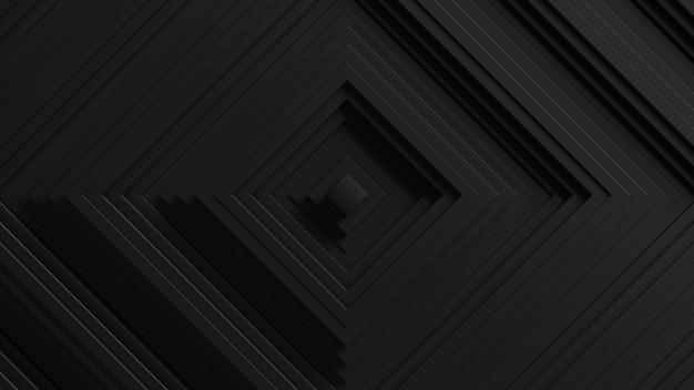 Fundo abstrato da oscilação das cortinas quadradas. . superfície ondulada das paredes 3d. deslocamento de elementos geométricos. Foto gratuita