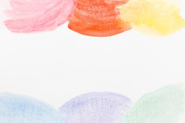 Fundo abstrato de círculos em aquarela Foto gratuita